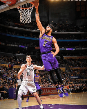 Fall, Los Angeles Lakers, and Memes: BID LIGHT  AAA.com Despite a career-high of 33 points, 20 rebounds & 6 blocks by JaVale McGee, the Lakers fall, 111-106 to the Nets. The Lakers have officially been eliminated from playoff contention. That's six consecutive seasons without making the playoffs. _ James: 25pts, 9rebs, 14asts Kuzma: 18pts, 5rebs Caruso: 10pts, 8rebs, 2asts KCP: 7pts, 4rebs Rondo: 5pts, 3rebs, 4asts