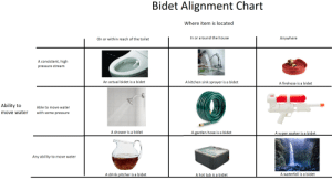 Bidet Alignment Chart: Bidet Alignment Chart