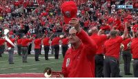 """100-year-old WWII veteran and Ohio State Marching Band alum Anthony Violi dotted the """"i"""" in the script Ohio!  https://t.co/a6SphQcyGW: BIG 100-year-old WWII veteran and Ohio State Marching Band alum Anthony Violi dotted the """"i"""" in the script Ohio!  https://t.co/a6SphQcyGW"""