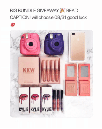 🌟 WlN AN lPhone + KYLIE COSMETICS!! 🌟⠀⠀⠀⠀⠀⠀⠀⠀ _____________________________________________ 1. Go to 👉🏽 @givingukylie⠀⠀⠀⠀⠀⠀⠀⠀ 2. FOllOW them AND ALL the pages they're FOIIOWING!! ⠀⠀⠀⠀⠀⠀⠀⠀ 3. COME BACK, AND MENTION 2 FRIENDS so we know you did it ✅ ⠀⠀⠀⠀⠀⠀⠀⠀ 4. BONUS: say something nice on all the pages!⠀⠀⠀⠀⠀⠀⠀⠀ _____________________________________________ 🌟 GOOD LUCK Y'ALL 🌟: BIG BUNDLE GIVEAWAYREAD  CAPTION! will choose 08/31 good luck  Instax  instax  KKW  BY KYLIE COSMETICS  CREME IOUID LIPSTICK  KYLIE KYLIE KYLIE 🌟 WlN AN lPhone + KYLIE COSMETICS!! 🌟⠀⠀⠀⠀⠀⠀⠀⠀ _____________________________________________ 1. Go to 👉🏽 @givingukylie⠀⠀⠀⠀⠀⠀⠀⠀ 2. FOllOW them AND ALL the pages they're FOIIOWING!! ⠀⠀⠀⠀⠀⠀⠀⠀ 3. COME BACK, AND MENTION 2 FRIENDS so we know you did it ✅ ⠀⠀⠀⠀⠀⠀⠀⠀ 4. BONUS: say something nice on all the pages!⠀⠀⠀⠀⠀⠀⠀⠀ _____________________________________________ 🌟 GOOD LUCK Y'ALL 🌟