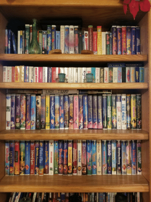 "Part of my Grandma's VHS collection she's been building since forever.: BIG DEA  OCTOBER SKY WATERWORLD  THE KID  LADY TRAMP  Lady Tramp IL  83668  133  Szoo White  S AI AI THE  DiSNey's  and the Spven Dwarf  -Camgy COOL R  ANGELS  OUTFIELD  LKE SHOW BUSINESS  THERE'S NO BUSINESS  JUNGLE BOOK  28RTEND  Our Dtamays So Dear Hart  NTACT  ""Jungle Book  4IN  The  Alf Dogs Go To Heaven  HOME VIDO  ALICE  in WONDERLAND  JIMMY  NEUIRON  Three CaballeroS  BOY GENTUS  sauTA PACIA  OCC  EAGE  Heidi  RETURN JAFAR  aUkies Oery ThSword Stone  HOMEVIDEO  I Aladdis Kurdes  SINGIN  IN THE RAIN  Steeping Beauty  athe  Rabis Wime  Aladdin  Seven Brides  for Seven Brothers  SHREK  ле  WerD  Hound  HDME VIDEO""  CAS  AWAY  WoRDENELILLE  ROBIN WILLIAMS  Disnspie FLUBBER  SHAQ  IRANS CAR  Pramk Cpp  Dounh  STEWART REED SAWONDERFI  THE  FANTASIA  KOBIN HOOD  NCS  Oklahoma!  NVINO MRLINS  HOME VODO  White Christmas  2000  NATIONAL VELVET  FANTASIA  TANTASTA  FANTASIA  LT. ROBIN CRUSOE  U.S.N.  WALT DISNEY'S  I Want A Dog For Christmas,  Charlle Brown  THE SIDE  MAITERPIECE  HOME VIDEO  The Unsinkable  MOLLY BROWN  BOURNE  RESCUERS  WALT DISNEY'S  A Walt Disney Christmas.  War Dienty  MAITEDPIECE  BOURNE  DOWN UNDER  stalk  BOURNE  WALT DISNEY's  VeggieTales THE STAR OF CHR  Kescuars  a cs  HOME VORt  Gla  SantaG  THE  k GREAT MOUSEDETECIVE  THEN  The  King an  PRINCE EGPT  TIKVLRHTR  THE OLAR  Dinepis  An Extremely GOofy Movic  The Bookor Pooh  DFIN  Sees Frum Tj Het  Ore DUMBO  POCAHONTAS I  GHOST  HOMEVIDEO  JOURNEY DEWLUORLD  WDi DUCK AES THE MOVIE  TREASURELOST LAMP  POCAHONTAS  VIN  HT  ay  vLady  HOME VIDEO  INLY  WICE  ILIAN CIRL  DINOSAUR  PINOCCHIO  Waer DiSNEy's  MASTLRPIECE  FORDES  ILL BE HOME FOR CHRISTMAS  WALT DiSNEp's  MASTERPIiCE  PINOCCHIO  DALMATIANS  HOME VIDED  USS  De Seus  HEROO  FIDDLER  1t's The Pied Piper  Charlie Brown  How The GRINCH STOLE CHR  WITH LOVE  HOME ALONE  Cinderella  PETE'S DRAGON  HOME VIDEO  REVER  14 GRINCH  FIELD OF DREAMS  THE  a bugs life  Peter Pan  TOL  Y HEAT  HOME VIDco  dwing Berlin's  HOLIDAY INN  BLACK STALLION  Gentlemen Prefer Blondes  Peter Pan  BLU  THUNIO  MEMOREX  SIN  OLIVER&Company  DIAMOND  BLACK BEAUTY  MY BEST FRIE  peCTOR DOLTTE  BEDISVORS  BROOMSICES  Mouse Hunt  DiSNEps  CHARLOTTE'S WEB  19TACOLORS MNGHO  TIATO  ஒ்ம்  Beauty Beast  MERMAID  áles  Beauty = BEAST  The  HOME VDO  HOME VIDco  SUPERMAN  GIAN CARLOMENOTTI  AMAHL AND THE NIGHT VISITORS  Bambi  WATD  Mary Poppins  HOME VIDEo  The PRINCESS BRUDE  can Flyers  BABE  THE NEVERENDING STORY  AMERICAN TAIL  FIEVEL GOES WEST  LION KING II  SIMBA'S-PRIDE  AIR F  ANAMRICANIAE  ""ARISTOCATS  INSIDE OUT  The  THE  O LION KING  THE ACCISE  ANTZ  KEVIN KLINE/ SIGOURNEY WEAVER  - ANG NEMO  DAVE  i0 STICH  BIGCHILL Part of my Grandma's VHS collection she's been building since forever."
