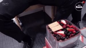 Bts, All The, and Big: Big Hit  BTS  Bomb THERE SHOULD BE A COMPILATION OF ALL THE TIMES JIMIN HAS BROUGHT CAKES TO HIS HYUNG'S BIRTHDAYS