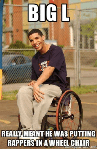 """Wheelchair: BIG L  -I  REALLY MEANT HE WAS PUTTING  RAPPERS""""IN A WHEELCHAIR  net"""