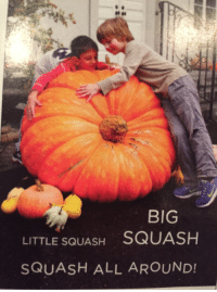 "<p>Submission by <a class=""tumblelog"" href=""https://tmblr.co/mcMshMmicMeDpjr0dxitS6w"">@veins-of-iced-shadow</a></p>: BIG  LITTLE SQUASH SQUASH  SQUASH ALL AROUND! <p>Submission by <a class=""tumblelog"" href=""https://tmblr.co/mcMshMmicMeDpjr0dxitS6w"">@veins-of-iced-shadow</a></p>"