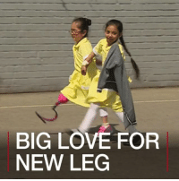 Blade, Children, and Love: BIG LOVE FOR  NEW LEG 4 MAY: Remember how it felt when you wore new shoes to school for the first time? Well, how does it feel when it's not a shoe, but a prosthetic blade? Seven-year-old Anu showed off her new leg to her playground pals – their reaction is endearing. For a similar story: bbc.in-blade Prosthetic Children School Education BBCShorts BBCNews @BBCNews