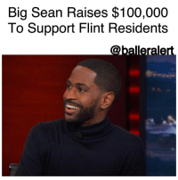 "Big Sean, Memes, and The Interview: Big Sean Raises $100,000  To Support Flint Residents Big Sean Raises $100,000 To Support Flint Residents -blogged by @BenitaShae ⠀⠀⠀⠀⠀⠀⠀⠀⠀ ⠀⠀⠀⠀⠀⠀⠀⠀⠀ BigSean stopped by The Daily Show with TrevorNoah, where he took the time to address an issue that hits very close to home: the Flint water crisis. ⠀⠀⠀⠀⠀⠀⠀⠀⠀ ⠀⠀⠀⠀⠀⠀⠀⠀⠀ During the interview, the Detroit native revealed his foundation, the Sean Anderson Foundation, had raised $100,000 to support the residents of Flint, Michigan, where the drinking water was contaminated with high levels of lead. ⠀⠀⠀⠀⠀⠀⠀⠀⠀ ⠀⠀⠀⠀⠀⠀⠀⠀⠀ ""I just know it's not even close to being over. In that situation, I feel like, it wasn't a natural disaster. It's something that should've been prevented and could've been prevented,"" he explained. ""So it's just disgusting to think about the damages that these families and even kids have to go through with the lead poisoning."" ⠀⠀⠀⠀⠀⠀⠀⠀⠀ ⠀⠀⠀⠀⠀⠀⠀⠀⠀ Sean also revealed that the final track on his new album ""I Decided,"" titled ""Bigger Than Me"" will feature the Flint Chosen Choir. He said he wanted to show his support for his home state through music: ""Once you hear it, you'll see why I wanted them to be on that,"" he said. ""But I was just happy to have Flint be a part of my album in that way, as well."" ⠀⠀⠀⠀⠀⠀⠀⠀⠀ ⠀⠀⠀⠀⠀⠀⠀⠀⠀ Shoutout to Big Sean for putting his money where his mouth is! BallerificCharity"