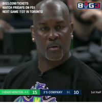 "Ass, Memes, and Nba: BIG3.COM/TICKETS  WATCH FRIDAYS ON FS1  NEXT GAME 7/27 IN TORONTO  3 HEADED MONSTERS 4-0 15 3'S COMPANY 31 10  1st Half 😂 ""WEAK ASS!""   The NBA's greatest trash talker, Gary Payton, going off on Dahntay Jones!   (Via @thebig3)  https://t.co/gfUX0xKuoH"