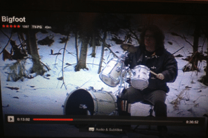 canape-official: schnellergeist:  schnellergeist:   schnellergeist:  watchin a sasquatch doc n this guy just randomly plays the drums throughout the show  oh he just explained he plays the drums to attract bigfoot. reasonable   this guy: (kickass drum solo) bigfoot: (shows up) whoa man sick!!!!!!!!!  bigfoot walking out the woods: : Bigfoot  1997 TV-PG 49m  0:13:02  0:36:52  Audio&Subtitles canape-official: schnellergeist:  schnellergeist:   schnellergeist:  watchin a sasquatch doc n this guy just randomly plays the drums throughout the show  oh he just explained he plays the drums to attract bigfoot. reasonable   this guy: (kickass drum solo) bigfoot: (shows up) whoa man sick!!!!!!!!!  bigfoot walking out the woods: