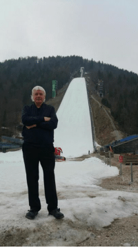 Memes, 🤖, and Slovenia: Biggest ski jump in the World. Just waiting for my skis. Paramedics on standby. #Slovenia