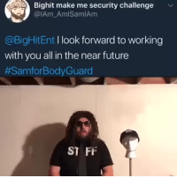 YOU'RE HIREDcr: IAm_AmISamIAm: Bighit make me security challenge  @IAm AmlSamlAm  @BigHitEnt I look forward to working  with you all in the near future  #SamforBodyGuard  ST FF YOU'RE HIREDcr: IAm_AmISamIAm