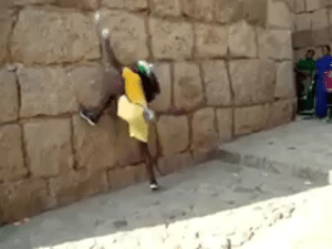 """bigwordsandsharpedges:  bluefist: trinityice:  voidethered:  weloveshortvideos:  found the next spiderman   i love that the next logical step for this guy goes""""hmm, can't quite reach the next handhold"""" to""""flip upside down""""  WHAT   that guy ain't even wearing climbing shoes what the actual fuck  This is an Indian parkour master named Jyoti Raju.He goes by the nickname""""Monkey King"""", and performs acrobatic feats for any tourists visiting the ruins of the Chitradurga Fortress.: bigwordsandsharpedges:  bluefist: trinityice:  voidethered:  weloveshortvideos:  found the next spiderman   i love that the next logical step for this guy goes""""hmm, can't quite reach the next handhold"""" to""""flip upside down""""  WHAT   that guy ain't even wearing climbing shoes what the actual fuck  This is an Indian parkour master named Jyoti Raju.He goes by the nickname""""Monkey King"""", and performs acrobatic feats for any tourists visiting the ruins of the Chitradurga Fortress."""