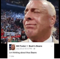 Thos Beans: Bill Foster  Bush's Beans  July 23 at 10:13 PM  l;m thinking about thos Beans  1 Like