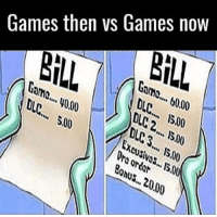 "<p>It&rsquo;s true you know via /r/memes <a href=""http://ift.tt/2nXwtcb"">http://ift.tt/2nXwtcb</a></p>: BİLL  Games then vs Games now  BİLL  Gome....0.00  DL.... 1500  LC2...00  Came...0.00  DC.. S00  C.S.. 15.00  Evo.00  Dro or dar  onus..20.00 <p>It&rsquo;s true you know via /r/memes <a href=""http://ift.tt/2nXwtcb"">http://ift.tt/2nXwtcb</a></p>"