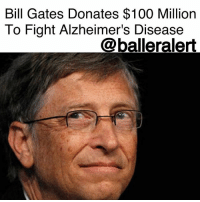 """Anaconda, Bill Gates, and Family: Bill Gates Donates $100 Million  To Fight Alzheimer's Disease  @balleralert Bill Gates Donates $100 Million To Fight Alzheimer's Disease - blogged by @baetoven_ ⠀⠀⠀⠀⠀⠀⠀ ⠀⠀⠀⠀⠀⠀⠀ On Monday, BillGates, whose family has a history of dementia, announced a $100 million donation to fight Alzheimer's disease. ⠀⠀⠀⠀⠀⠀⠀ ⠀⠀⠀⠀⠀⠀⠀ """"I know how awful it is to watch people you love struggle as the disease robs them of their mental capacity, and there is nothing you can do about it. It feels a lot like you're experiencing a gradual death of the person that you knew,"""" the Microsoft founder wrote on his blog. ⠀⠀⠀⠀⠀⠀⠀ ⠀⠀⠀⠀⠀⠀⠀ Currently, more than 5 million people in the United States have Alzheimer's, a number expected to increase as the population grows."""