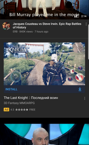They better have gwent as well tbh.: Bill Murray played me in the moyje  2:14  Jacques Cousteau vs Steve Irwin. Epic Rap Battles  of History  ERB 840K views 7 hours ago  THELAST  KNIGHT  ПОСЛЕДНИЙ ВОИН  INSTALL  The Last Knight : Последний воин  3D Fantasy MMOARPG  Ad 4.5  FREE They better have gwent as well tbh.