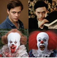 Bill & Tim at the age, when he played Pennywise look almost identical.: Bill & Tim at the age, when he played Pennywise look almost identical.