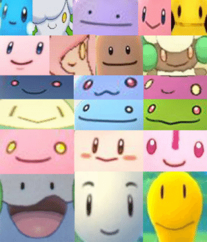 Pokemon, Tumblr, and Blog: billfrancois:Pokemon with :) faces - reblog if you agree