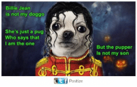 i am the one: Billie Jean  is not my doggo  She's just a pug  o  Who says that  I am the one  rkbe  TEf Postize  But the pupper  Is not my son