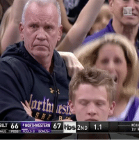 Doug Collins can't even... (➡️ @pringlesus): BILT 66  8 NORTHWESTERN 67  tbs  2ND  1.1  NUS  POSS FOULS ONUS  NCAA  1ST R Doug Collins can't even... (➡️ @pringlesus)