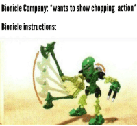 Bionicle Company Wants To Show Chopping Action Bionicle
