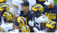 Michigan State fans aimed a NSFW chant at Jim Harbaugh...: bir  RE2PECT Michigan State fans aimed a NSFW chant at Jim Harbaugh...