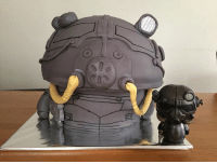 Memes, Vans, and Cake: Birthday cake fun with @marloes.van.dam! Thanks for using the Dorbz Funko as your muse ❤️ dorbz fallout birthdaycake looterlove lootcrate