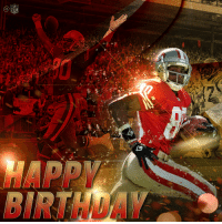 Birthday, Memes, and Super Bowl: BIRTHOA 22,895 receiving yards. 197 rec. TDs. 3x Super Bowl Champ.  Join us in wishing the LEGEND @JerryRice a Happy 55th Birthday! 🐐🐐🐐 https://t.co/9HpQFlIN3E