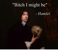 "Bitch, Hamlet, and Memes: ""Bitch I might be""  Hamlet  SSICAL ART MEMES"