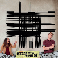 Memes, Phone, and Tilt: BIXLER HIGH  PRIVATE EYE Tilt your phone to spy the hidden phrase 🔍 It's no mystery, BixlerHighPI premieres this Monday!