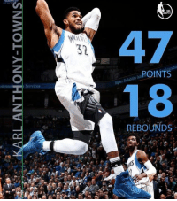 KARL WENT TO TOWN(s): BL-ANTHONY-TOWNS  李  Dy  se  NBA  Ol.V\  ,POINTS  Nnmun  Services  REBOUNDS KARL WENT TO TOWN(s)