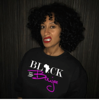 Click, Memes, and Tracee Ellis Ross: BL CK  AN  oiee Are you feeling BLACK-ISH today? Dress like Tracee Ellis Ross and purchase your Black and Boujee t-shirt from @HBCUSociety. Don't worry @HBCUSociety have shirts and accessories for the guys as well. 👇 Click the link in @HBCUSociety bio! - www.HBCUSocietyCo.com