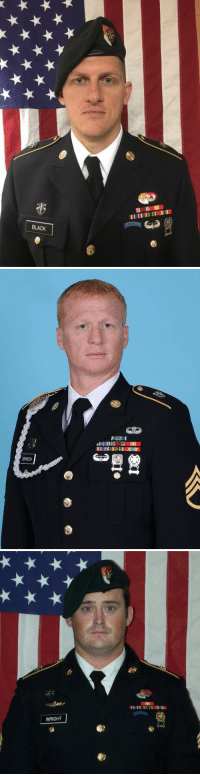 US troops killed in Niger identified as decorated Green Berets, prayers to their families 🙏🏻🇺🇸 Take a moment to remember their service and honor their sacrifice. https://t.co/HLQsMgKHGU: BLACK   12  JOHNSON   WRIGHT US troops killed in Niger identified as decorated Green Berets, prayers to their families 🙏🏻🇺🇸 Take a moment to remember their service and honor their sacrifice. https://t.co/HLQsMgKHGU