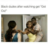 "Memes, 🤖, and Leaks: Black dudes after watching get ""Get  Out"" lmaooo @bhadbhabie is hacked and they gonna leak some shit people be making the most retarded people famous like X"