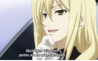 anime panties: Black fights with white  panties are the pride of mankind