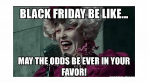 The funniest Black Friday memes - CNET - Page 14: BLACK FRIDAY BE LIKE...  MAY THE ODDS BE EVER IN YOUR  FAVOR! The funniest Black Friday memes - CNET - Page 14