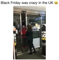 Black Friday, Crazy, and Friday: Black Friday was crazy in the U  AC  OK  an  eve wasn't expecting that!😂 👉🏻(@bestvines bestvines) Credit: Frankie_Mack (Twitter)- BBC