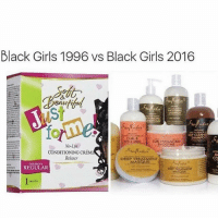😍😍 Follow @dollbeautytips for the BEST beauty tips, beauty memes and more! @dollbeautytips 💕: Black Girls 1996 vs Black Girls 2016  CURL &  No-Lye  CONDITIONING CRÉME  Relaxer  BA  CO  DEEP TREATMENT  REGULAR 😍😍 Follow @dollbeautytips for the BEST beauty tips, beauty memes and more! @dollbeautytips 💕