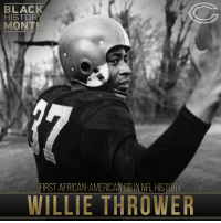 Memes, 🤖, and Nfl History: BLACK  HISTORY  MONT  FIRST AFRICAN-AMERICANOBINNFL HISTORY  WILLIE THROWER Willie Thrower was the 1st African-American Quarterback in NFL History NFLBHM BlackHistoryMonth