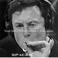 Just Do It, Smashing, and Yeah: black.humorist  Yeah bro, I would smash a thicc alien.  SPACEX Just do it follow @black_humorist 🔥