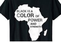 Power: BLACK IS A  COLOR oF  POWER  AND  STRENGTH
