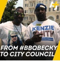 Memes, Black, and Running: Black  KENZIE  ITK  HIPOLICEOLI  cil for District  TO CITY COUNCIL #BBQBecky called the cops on Kenzie Smith. Now he's running for Oakland city council.