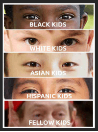 Asian, Black, and Kids: BLACK KIDS  WHITE KIDS  ASIAN KIDS  HISPANIC KIDS  FELLOW KIDS A simple visual guide