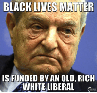 Black Lives Matter, Black Lives Matter, and Memes: BLACK LIVES MATTER  IS FUNDED BY AN OLD, RICH  WHITE LIBERAL Chew On That Irony... #BigGovSucks