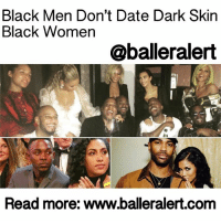 """Black Men Don't Date DarkSkin Black Women - blogged by: @eleven8 - ⠀⠀⠀⠀⠀⠀⠀⠀⠀ ⠀⠀⠀⠀⠀⠀⠀⠀⠀ Now that I've got your attention, I'd like to dedicate this blog to my BlackWomen, specifically dark skin black women. If you choose to read beyond the title, I commend you. You're smart. I like that. If you choose to stop at the title and get angry because you didn't want to catch the context of this entire blog, I feel sorry that you'll miss some wise gems below. ⠀⠀⠀⠀⠀⠀⠀⠀⠀ ⠀⠀⠀⠀⠀⠀⠀⠀⠀ Now let's move on to the matter at hand, the relationship between the black woman and the black man: Is it broken? The short answer: Not as much as we are lead to believe. So black women, dark skin black women, this is where we need to have a chat and discuss what WE are doing wrong. Follow me… ⠀⠀⠀⠀⠀⠀⠀⠀⠀ ⠀⠀⠀⠀⠀⠀⠀⠀⠀ Dark skin black women, we have got to stop adopting the theory that black men do not date black women, and if they do, they don't date dark skinned women. This is a complete lie made up by people who want nothing more than for you to feel less worthy of love. No, celebrity men are not dating """"others"""" more than they are dating and marrying black women. This is a false narrative that as a community, we should stop entertaining. You see, when we believe these memes, we are reinforcing that black women are not desirable. We are passing that on to other black women in our lives, including our daughters. It's a lie and I'll prove it. ⠀⠀⠀⠀⠀⠀⠀⠀⠀ ⠀⠀⠀⠀⠀⠀⠀⠀⠀ In 2010, the USCensusBureau reported that nearly 90% of Black men had Black wives. This number is still in the high 80's and debunks all of those lies that black men are not marrying black women. It also debunks the lies that black women are not getting married. So, with this information readily available to us, why are we quickly believing that black men don't want us? ⠀⠀⠀⠀⠀⠀⠀⠀⠀ ⠀⠀⠀⠀⠀⠀⠀⠀⠀ Over the past week, I have seen the photos above tweeted and retweeted by black women who believe that black men, celebrity black men included, are choosing to """