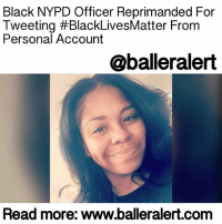 """Black NYPD Officer Reprimanded For Tweeting BlackLivesMatter From Personal Account - blogged by: @MsJennyb ⠀⠀⠀⠀⠀⠀⠀⠀⠀ ⠀⠀⠀⠀⠀⠀⠀⠀⠀ An NYPD officer is facing disciplinary action after tweeting """"Black Lives Matter"""" from her personal account, in response to a post from the Department's 76th Precinct's Twitter page. ⠀⠀⠀⠀⠀⠀⠀⠀⠀ ⠀⠀⠀⠀⠀⠀⠀⠀⠀ GwendolynBishop, a black woman, was reprimanded and slapped with departmental charges after officials accused her of inappropriately writing on the Brooklyn Precinct's Twitter page. According to reports, she responded to a tweet about a gun arrest that read, """" 76thPct Special Ops Team makes arrest and recovers a loaded 9MM hand gun onelessgun."""" To which Bishop responded saying, """"Sad day for the 76th Pct. BlackLivesMatter,"""" from her personal account, @ducklipzanddimplzz. ⠀⠀⠀⠀⠀⠀⠀⠀⠀ ⠀⠀⠀⠀⠀⠀⠀⠀⠀ Since the Feb. 17th tweet and response, Bishop has been in hot water with the higherups of the department. On Tuesday, the officer stood for a departmental trial to explain her actions, as officials determine the fate of her future with the department. When asked about the tweet, the officer said she made a typo, blaming it on autocorrect. She said she meant to write Bluelivesmatter, a hashtag she has used in two other tweets. ⠀⠀⠀⠀⠀⠀⠀⠀⠀ ⠀⠀⠀⠀⠀⠀⠀⠀⠀ """"I vaguely remember the tweets. If I had to guess, there were a lot of changes in my precinct about shifts being switched, but it had nothing to do about this gun arrest,"""" she said. ⠀⠀⠀⠀⠀⠀⠀⠀⠀ ⠀⠀⠀⠀⠀⠀⠀⠀⠀ Bishop's counsel, John Tynan, defended his client's actions revealing that she has not violated any rules. Being that she replied to the tweet from her own personal account, she did not access the official account for the Precinct, and her personal account did not reveal she was an officer of the law, Daily News reports. ⠀⠀⠀⠀⠀⠀⠀⠀⠀ ⠀⠀⠀⠀⠀⠀⠀⠀⠀ """"She can reply to a tweet just as the 500 million others who use Twitter can,"""" he said. ⠀⠀⠀⠀⠀⠀⠀⠀⠀ ⠀⠀⠀⠀⠀⠀⠀⠀⠀ However, the Precinct's integrity control officer refuted Tynan's defen"""