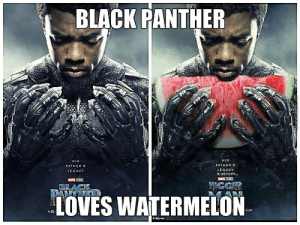 19 Very Funny Black Panther Meme That Make You Wild Laugh | MemesBoy: BLACK PANTHER  HIS  FATHERS  LEGACY  is unl nown.  HIS  FATHER'S  LEGACY  IOVES WATERMELON  O Marvel 19 Very Funny Black Panther Meme That Make You Wild Laugh | MemesBoy