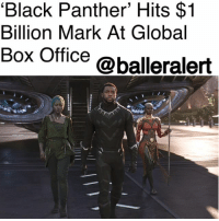"America, Blockbuster, and Club: 'Black Panther' Hits $1  Billion Mark At Global  Box Office @balleralert 'Black Panther' Hits the $1 Billion Mark At Global Box Office - Blogged by: @RaquelHarrisTV ⠀⠀⠀⠀⠀⠀⠀⠀⠀ ⠀⠀⠀⠀⠀⠀⠀⠀⠀ 'Black Panther' has just surpassed the $1 billion mark at the global box office in just 26 days. ⠀⠀⠀⠀⠀⠀⠀⠀⠀ ⠀⠀⠀⠀⠀⠀⠀⠀⠀ This is the 33rd movie to hit $1 billion, the 16th Disney film to gain this achievement and the fifth Marvel blockbuster to earn the title. BlackPanther has joined the billion-dollar club with ""The Avengers,"" ""Avengers: Age of Ultron,"" ""Iron Man 3,"" and ""Captain America: Civil War."" ⠀⠀⠀⠀⠀⠀⠀⠀⠀ ⠀⠀⠀⠀⠀⠀⠀⠀⠀ Nationally, Black Panther grossed $521 million, which makes it the ninth-highest release of all time. It also beat out ""Avatar"" with the third-highest, fourth-weekend release of all-time with 36.7 million grossed. In only one day, it made $20 million in China. Internationally, it's pushing to make $500 million by the end of this weekend. Congrats to the ""Black Panther"" cast and crew!"