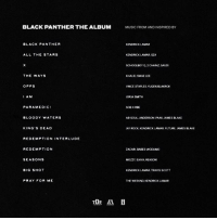 Future, Kendrick Lamar, and Memes: BLACK PANTHER THE ALBUM  MUSIC FROM AND INSPIRED BY  BLACK PANTHER  KENDRICK LAMAR  ALL THE STARS  KENDRICK LAMAR, SZA  SCHOOLBOY Q. 2CHAINZ, SAUD  THE WAYS  KHALID, SWAE LEE  OPPS  VINCE STAPLES YUGEN BLAKROK  I AM  JORIA SMITH  PARAMEDIC  BLOODY WATERS  AB-SOUL, ANDERSON PAAK JAMES BLAKE  KING'S DEAD  AY ROCK, KENDRICK LAMAR, FUTURE, JAMES BLAKE  REDEMPTION INTERLUDE  REDEMPTION  ZACARI, BABES WOOUMO  SEASONS  MOZZY, SIAVA, REASON  BIG SHOT  KENDRICK LAMAR, TRAVIS SCOTT  PRAY FOR ME  THE WEEKNO, KENORCK LAMAR The tracklist for the movie BlackPanther has been released! 👀🔥💯 @BlackPanther WSHH