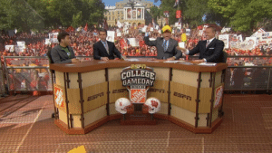 College, College Football, and Taken: BLACK  PELIN  ORCN  Botge  GTr  ERY  BIG  BE MARNE  JAMAL isC  COLLEGE  GAMEDAY  BUILT BY  ESP  ESF  ESFT  mRA Top 10 images taken before disaster