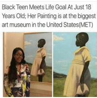Life Goal: Black Teen Meets Life Goal At Just 18  Years Old; Her Painting is at the biggest  art museum in the United States (MET)